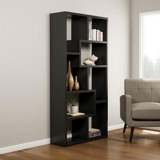 Porch & Den Verrazano Contoured Leveled Display Cabinet