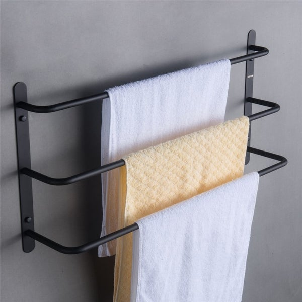 Matte Black Bathroom Accessories Set Towel Bar Three Bars Towel Rack. Opens flyout.