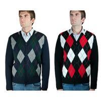 Argyle Cardigan Sweater (SW-299)