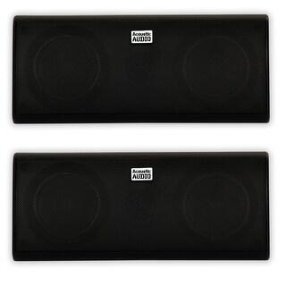 Acoustic Audio AA35CB Indoor 3 Way Speaker Pair 800W Black Bookshelf AA35CB-PR