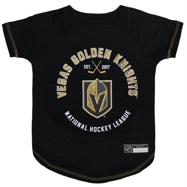 Shop Vegas Golden Knights Pet T-Shirt - Large - Free Shipping On Orders  Over  45 - Overstock.com - 20937231 5dacfc79c