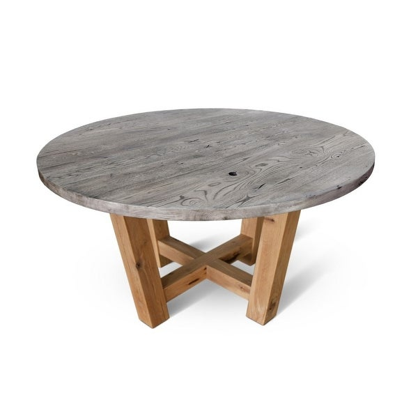 ONDA-W2 Solid Wood Dining Table - Rustique Oak. Opens flyout.