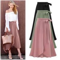 Ruffle Hem Wrap Skirt