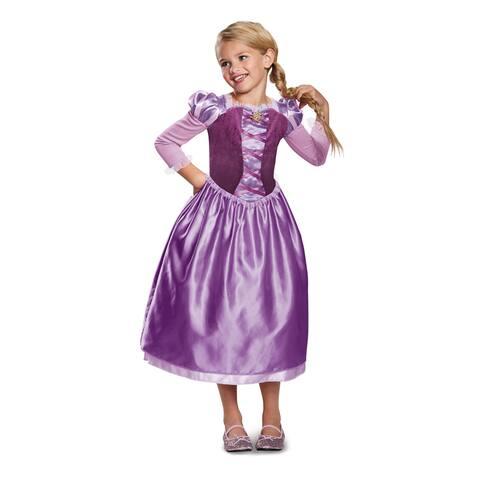 Girls Rapunzel Day Dress Disney Princess Costume - Medium (size 7-8)