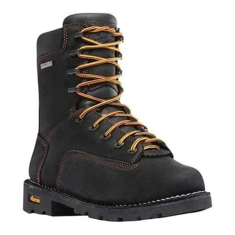 """Danner Men's Gritstone 8"""" Alloy Toe Work Boot Black Full Grain Leather"""