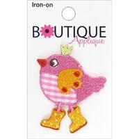 Pink Bird - Iron-On Appliques