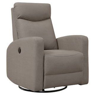 Monarch 8610BR Power Swivel Glider Light Brown Reclining Chair