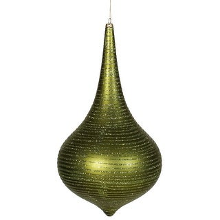 "12"" Dark Olive Matte-Glitter Onion Drop"