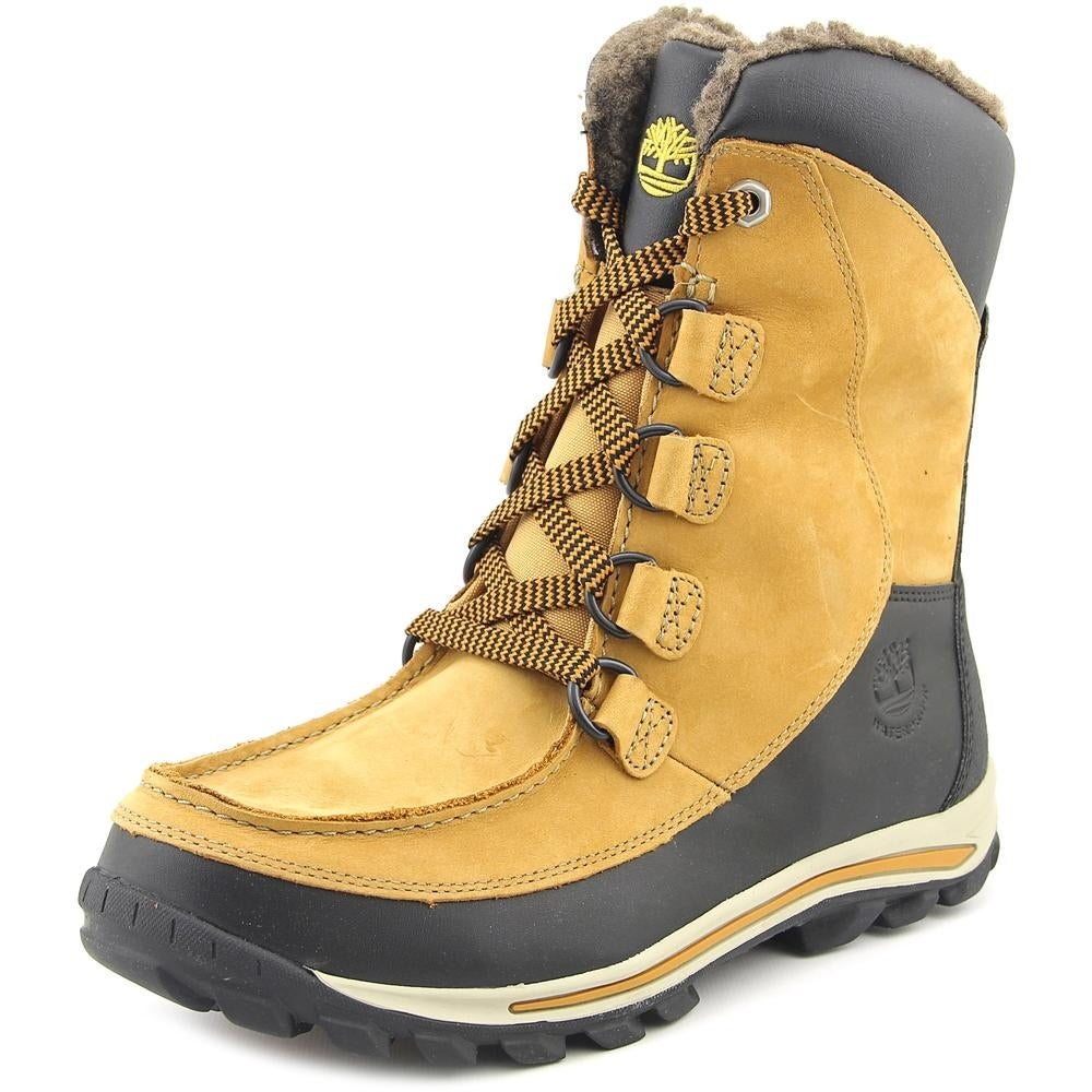 Timberland Chillberg HP Youth Round Toe Leather Tan Snow Boot
