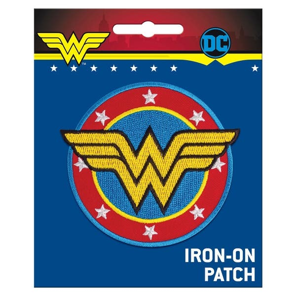 Dc Comics Wonder Woman Logo Embroidered Iron On Patch Overstock 31261349