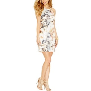 Guess Womens Clubwear Dress Sheer Sequined - S