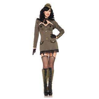 Leg Avenue Pin Up Army Girl Adult Costume - Green