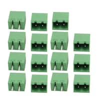 15 Pcs LZ1V 5.08mm Pitch 2P PCB Mounting Terminal Block Wire Connector