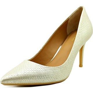 Calvin Klein Gayle  Women  Pointed Toe Leather Gold Heels