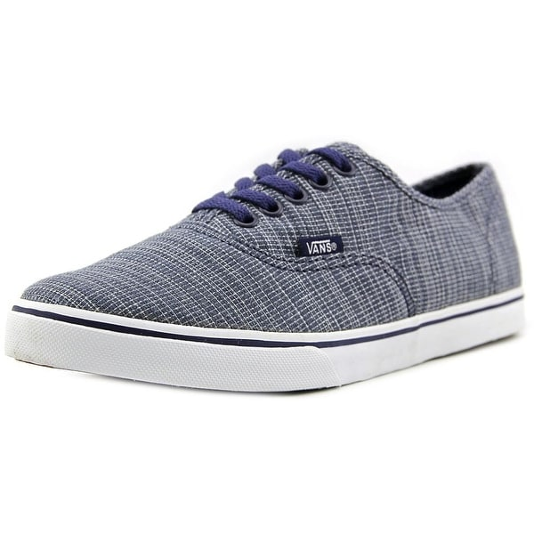 Vans Authentic Lo Pro Women (Woven Chambray) Blue Sneakers Shoes