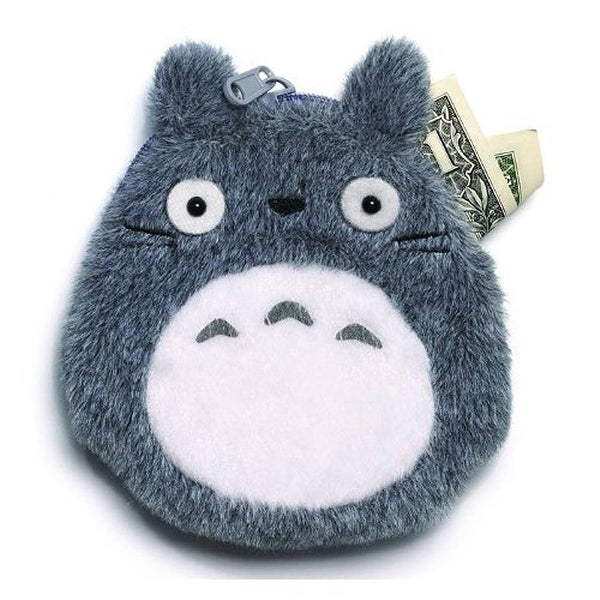 Totoro Grey Coin Purse - gray
