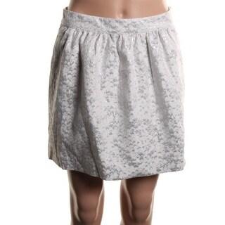 Eric & Lani Womens Juniors A-Line Skirt Metallic Pattern - 3