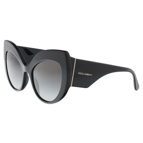 Dolce & Gabbana DG4321 501/8G Black Cat Eye Sunglasses - 55-20-140