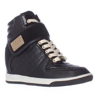bebe Colby Wedge Fashion Sneakers - Black