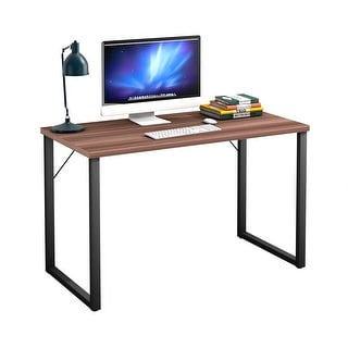 Costway Wood Computer Desk table Writing Study Workstation - as pic