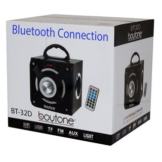 Boytone BT-32D Portable Bluetooth FM Radio Stereo speaker System, USB Port SD card Slot MP3 AUX ports, built in rechargeabl
