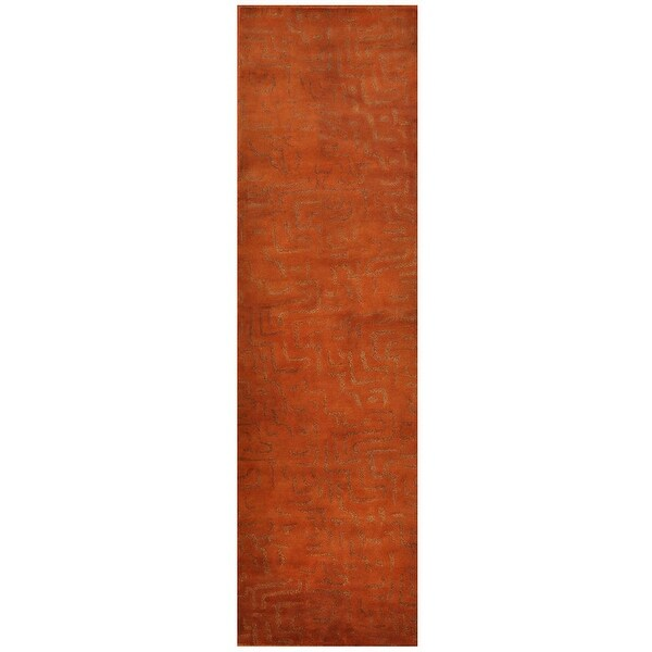 Handmade Tufted Wool Rug (India) - 3' x 10'7. Opens flyout.