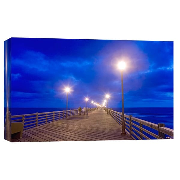 """PTM Images 9-101969 PTM Canvas Collection 8"""" x 10"""" - """"Night Pier"""" Giclee Waves Art Print on Canvas"""