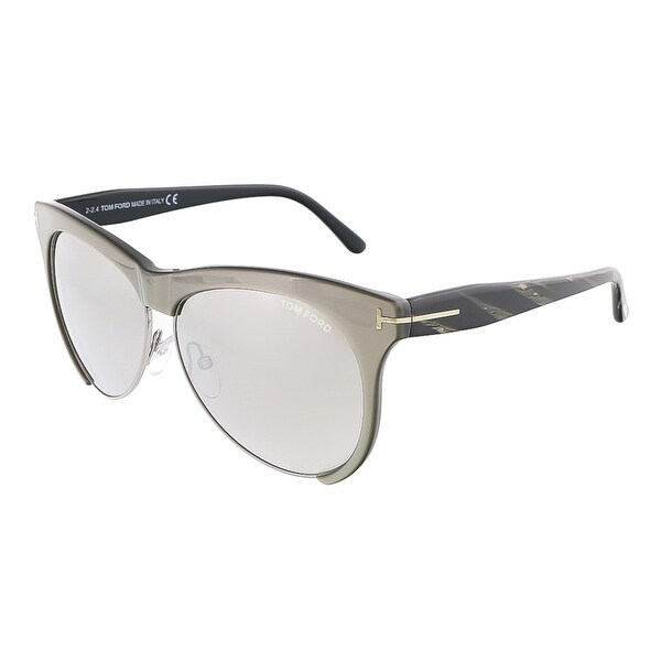 1f4eb951da Shop Tom Ford FT0365 S 38G LEONA Grey  Silver Rectangle sunglasses ...