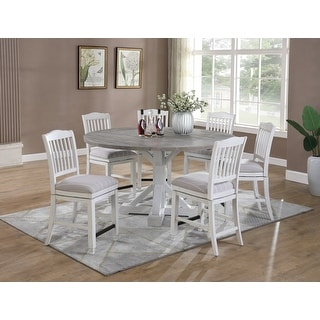 Link to The Gray Barn Cornish Row Modern Farmhouse 7-PieceGathering Dining Set Similar Items in Dining Room & Bar Furniture