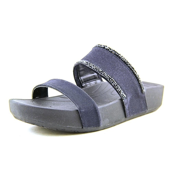 Baretraps Giana   Open Toe Canvas  Slides Sandal
