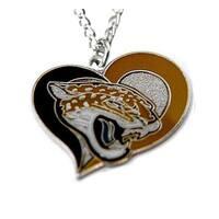 NFL Jacksonville Jaguars Swirl Heart Necklace