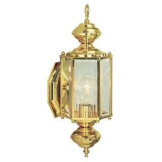 """Design House 501692 Augusta 1 Light 6"""" Wide Solid Brass Outdoor Wall Sconce"""