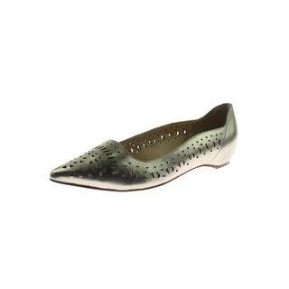 Ivanka Trump Womens Cisa Flats Leather Pointed Toe
