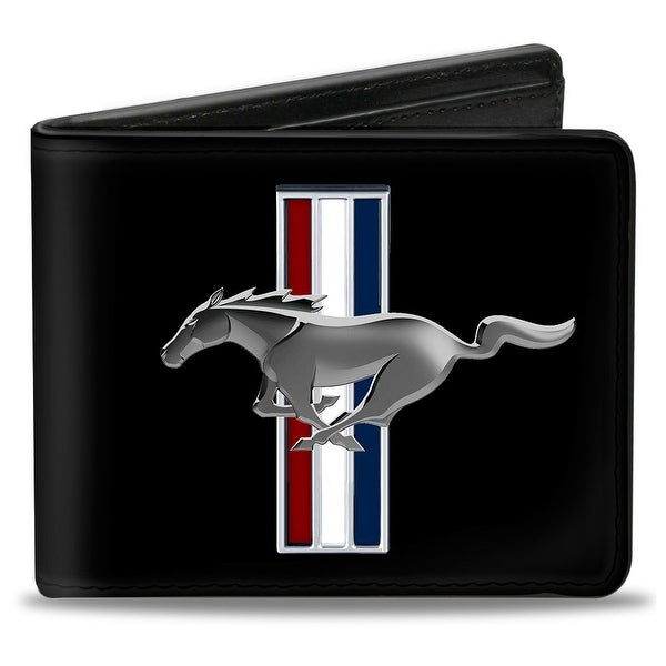 Ford Mustang W Bars Logo Centered Bi Fold Wallet - One Size Fits most
