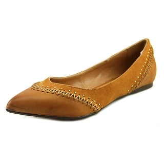 Report Shira Women  Round Toe Leather Brown Ballet Flats