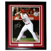 Mike Trout Signed & Framed Los Angeles Angels 16x20 Photo MLB Holo
