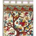 Handmade 100% Cotton Tree of Life Tab Top Curtain Drape Panel - 8 Color options - Black Gold Blue Purple Tan - 44 x 88 inches - Thumbnail 21