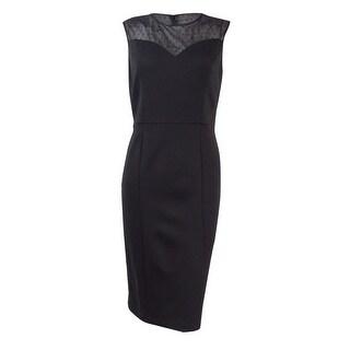 Nine West Women's Mesh Inset Ponte Dress - 4