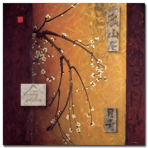 Oriental Blossoms II by Don Li-Leger Gallery Wrapped Canvas Giclee Art (30 in x 30 in)