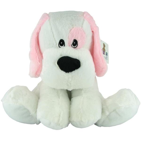 Beverly Hills Teddy Bear Company Plush Rattle Pink Dog