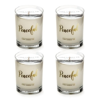 Lavender Aromatherapy Candle, 11oz Glass, Soy Wax, Slow Burn  (4 Pack)