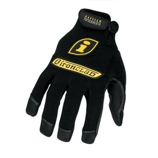 Ironclad GUG-04-L General Utility Glove, Large, Black