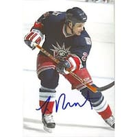 Lawrence Nycholat New York Rangers Autographed 4x6 Photo  This item comes with a certificate of authenticity from Auto