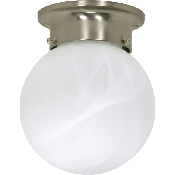 "Nuvo Lighting 60/257 Single Light 6"" Wide Flush Mount Ceiling Fixture"