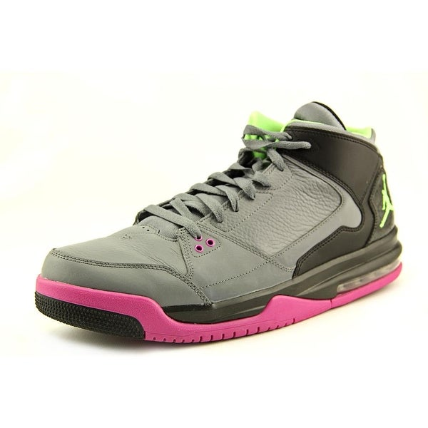 Jordan Flight Origin Men Grey/Pink/Green Basketball Shoes