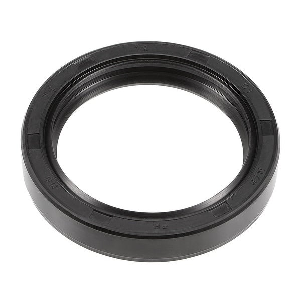 Oil Seal, TC 55mm x 72mm x 12mm, Nitrile Rubber Cover Double Lip - 55mmx72mmx12mm