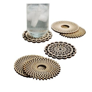Wooden Spiral Coasters - Basswood - Set of 6 - 4 in.