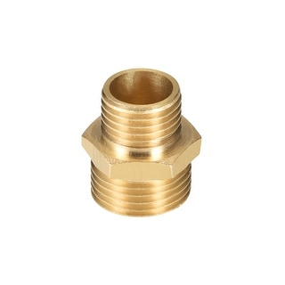 "Brass Pipe Fitting Reducing Hex Nipple 1/4""x 3/8"" G Male Pipe Brass Fitting - 1/4"" to 3/8"" G Male 2pcs"