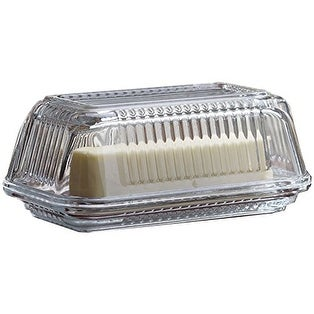 Palais Glassware High Quality Glass 'Beurre' Collection Multi Functional Butter Dish