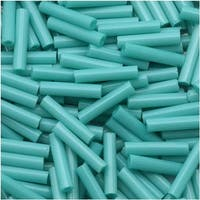 Toho Bugle Tube Beads Size 3 2x9mm Satin Turquoise 10 Grams